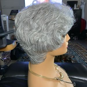 Paula Young synthetic gray Polly wig